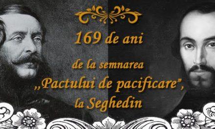 """Eveniment festiv dedicat împlinirii a 169 de anide la semnarea, la Seghedin, a ,,Pactului de pacificare"""" între Nicolae Bălcescu și Lajos Kossuth"""