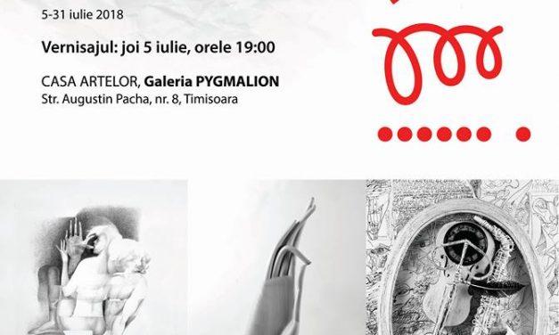 """Expoziție de artă vizuală,,TREI""""–DAN ERCEANU, SIMION CRISTEA, DRAGOȘ PĂTRAȘCU @ Casa Artelor """"Galeria Pygmalion"""", Timișoara"""