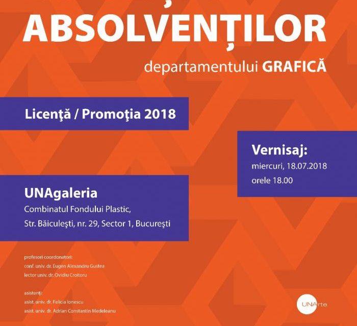 Expozitie Absolventi Grafica – Promoţia 2018 @ UNAgaleria, București