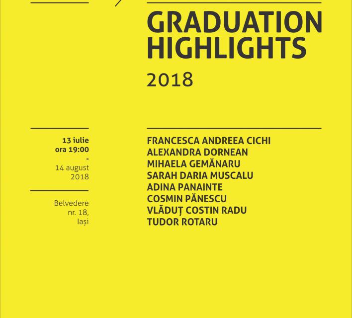 Graduation Highlights 2018 – selecție din lucrările absolvenților UNAGE@ Borderline Art Space, Iași