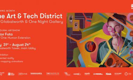 One Night Gallery aduce prima galeria de arta augmentata cu lucrarile lui Victor Fota la Globalworth