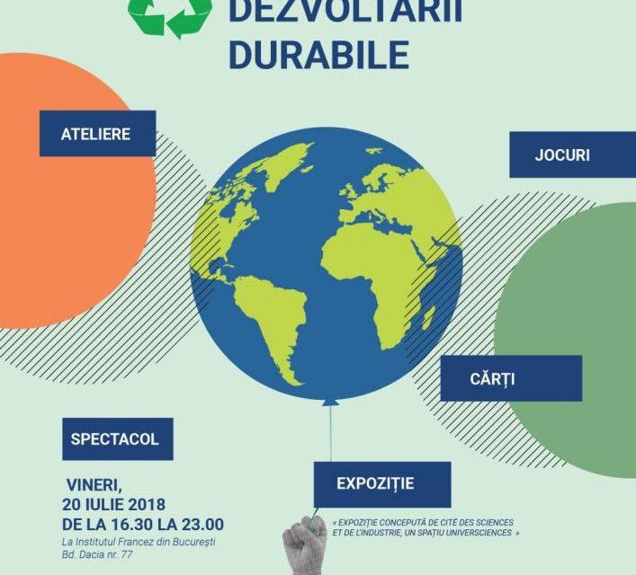Petrecerea dezvoltării durabile: Ateliere ludice şi educative despre dezvoltarea durabilă şi reciclare @Institutul Francez București