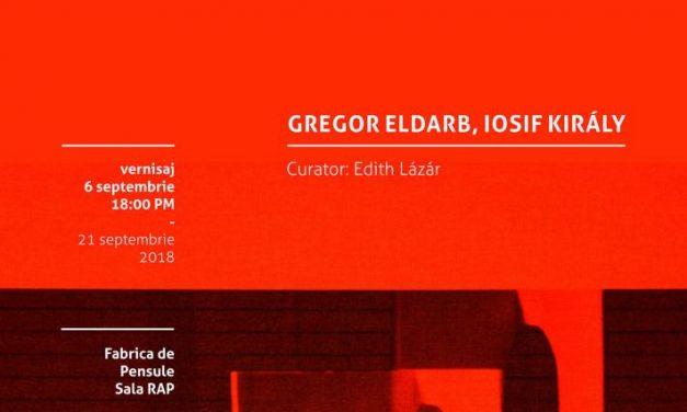 Gregor Eldarb și Iosif Király într-o expoziție organizată de Borderline Art Space la Fabrica de Pensule