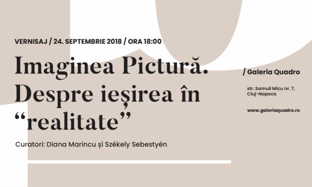 """Expoziția Imaginea Pictură. Despre ieșirea în """"realitate""""@ Galeria Quadro, Cluj"""