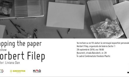 "Expoziție personală Norbert Filep ""Mapping the Paper"" @ Galeria Sector 1, București"