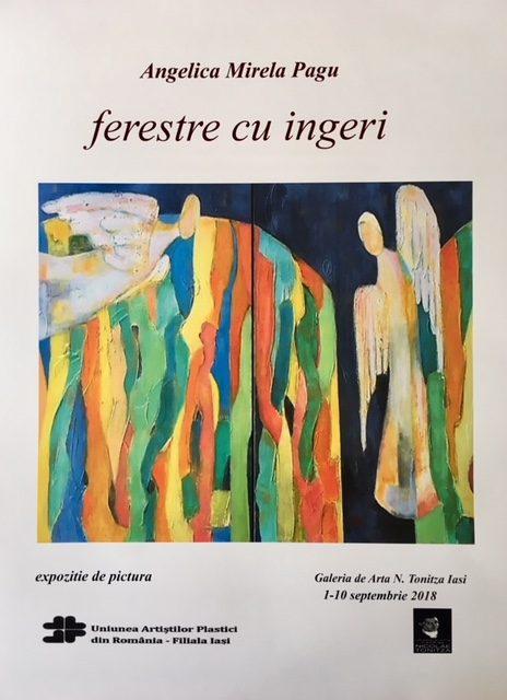 """Expoziție de pictură Mirela Pagu """"Ferestre cu Îngeri"""" @ GALERIA DE ARTĂ""""N. TONITZA"""", Iași"""