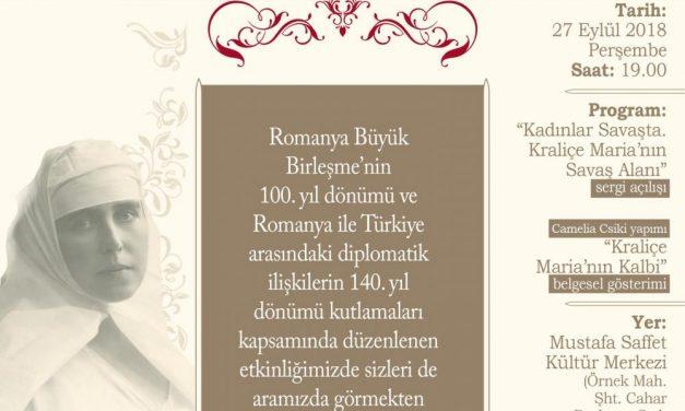 """Deschiderea expoziției """"Femeile de pe front. Câmpul de luptă al Reginei Maria"""" la Istanbul"""
