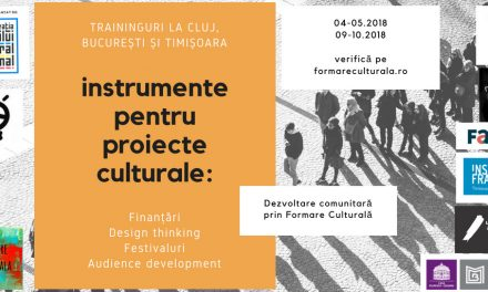Dezvoltare comunitară prin formare culturală: traininguri, networking cultural și publicație de bune practici @ Formare Culturală