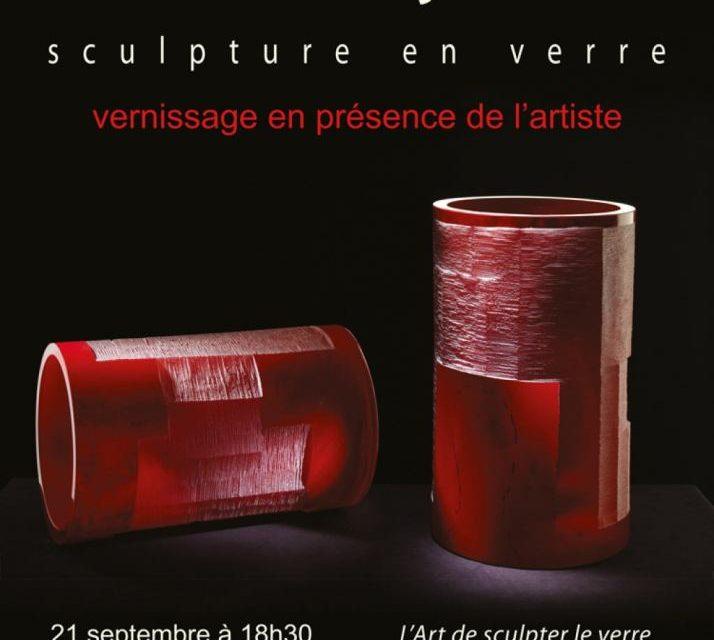 """Expoziția """"Sculptură în sticlă"""" a artistului plastic Ioan Nemțoi la Bruxelles"""