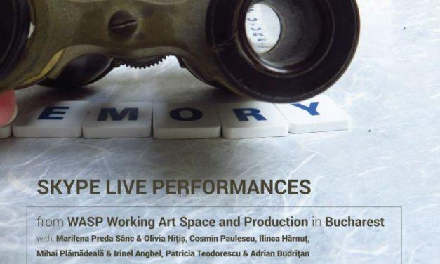 Performance-uri transmise live în București și Paris, în cadrul evenimentului Memory of the Future, de către WASP Studios și Cabaret de la Performance