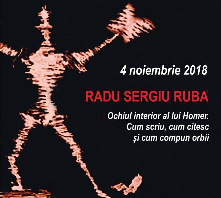 Radu Sergiu Ruba la Conferințele TNB – Ochiul interior al lui Homer. Cum scriu, cum citesc şi cum compun orbii