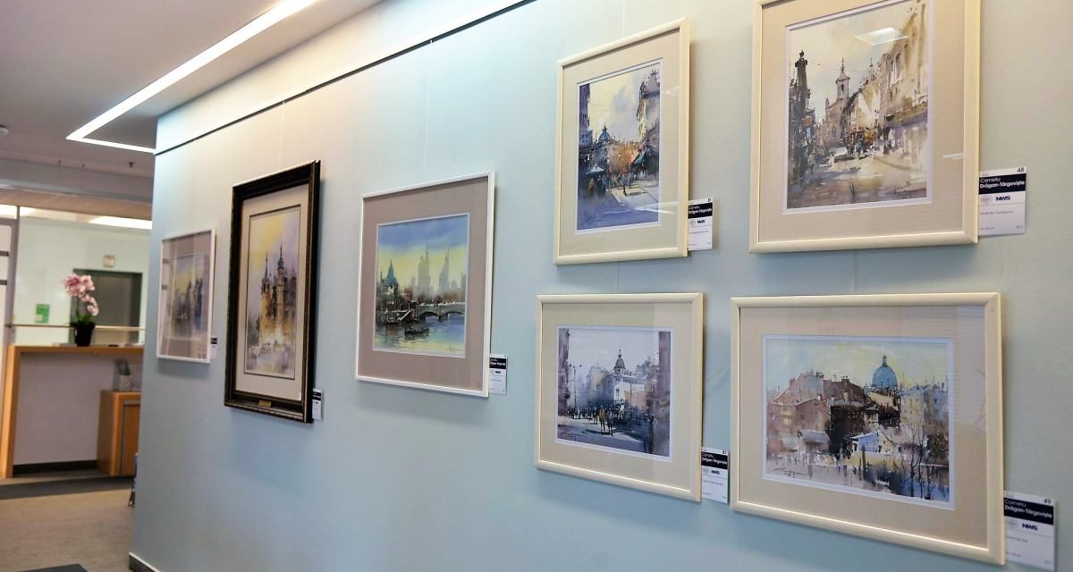 Watercolours by Corneliu Dragan Targoviste @ The World Bank in Romania