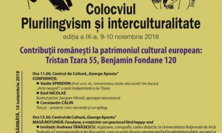 """""""Contribuţii româneşti la patrimoniul cultural european: Tristan Tzara 55, Benjamin Fondane 120"""", proiectde aniversare a Centenarului României"""
