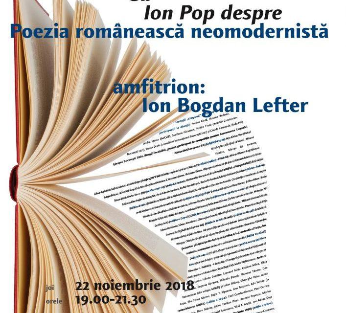 Ion Pop, din nou la Cafeneaua critică! Despre poezia neomodernistă