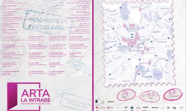 Primul proiect cultural cu peste 37 de artiști tineri și seniori în traseul urban din drumul tău: Arta la intrare