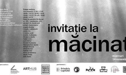 MĂCINAT expoziție imersivă multi-sit în spațiul public din București