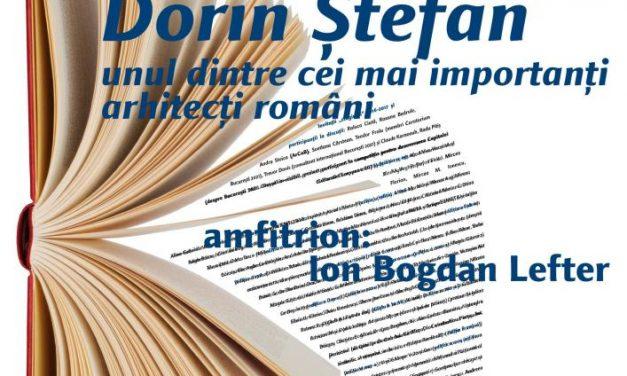 Arhitectul Dorin Ştefan la Cafeneaua critică