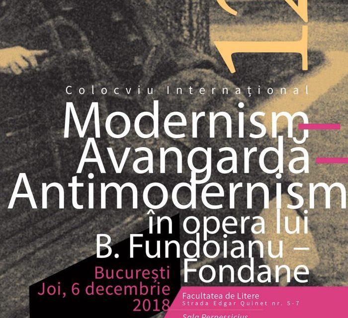 Colocviul Internațional | Modernism – Avangardă – Antimodernism în opera lui B. Fundoianu – Fondane