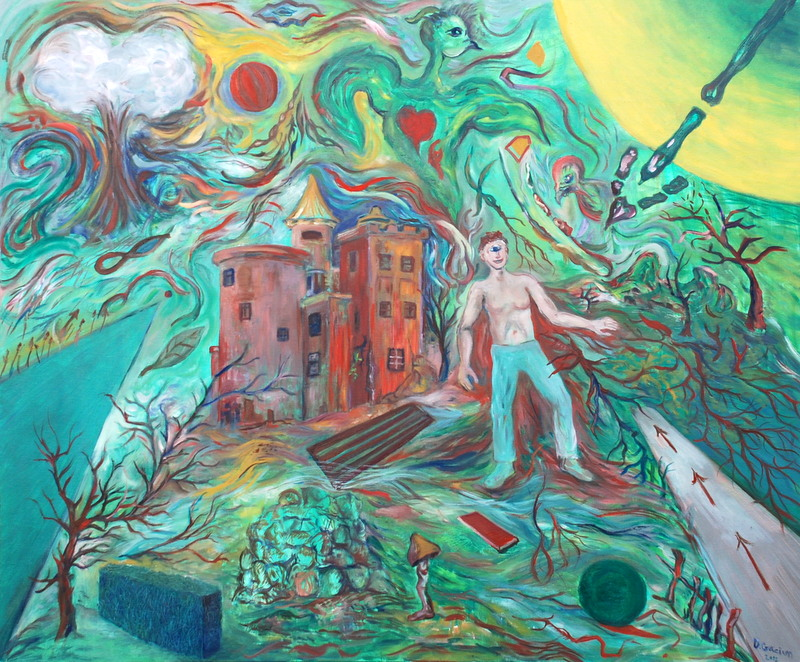 CRACIUN Daniel - Image hypotetique - 2012 - huile sur toile - 100 x 120 cm