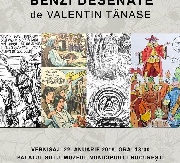 """Expoziție """"Benzi desenate de Valentin Tănase"""" @ Muzeul Municipiului București – Palatul Suțu"""