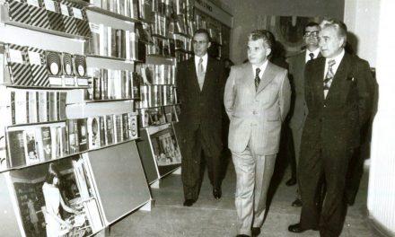 """Inaugurarea, în prezenţa conducătorilor de partid şi de stat, a """"Expoziţiei de carte şi mijloace de informare şi educare a oamenilor muncii"""", organizată la Sala Dalles din Capitală, 1978"""