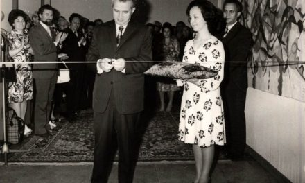 Nicolae Ceaușescu, Viorel Mărginean, Eugen Barbu, Marin Sorescu în 1977