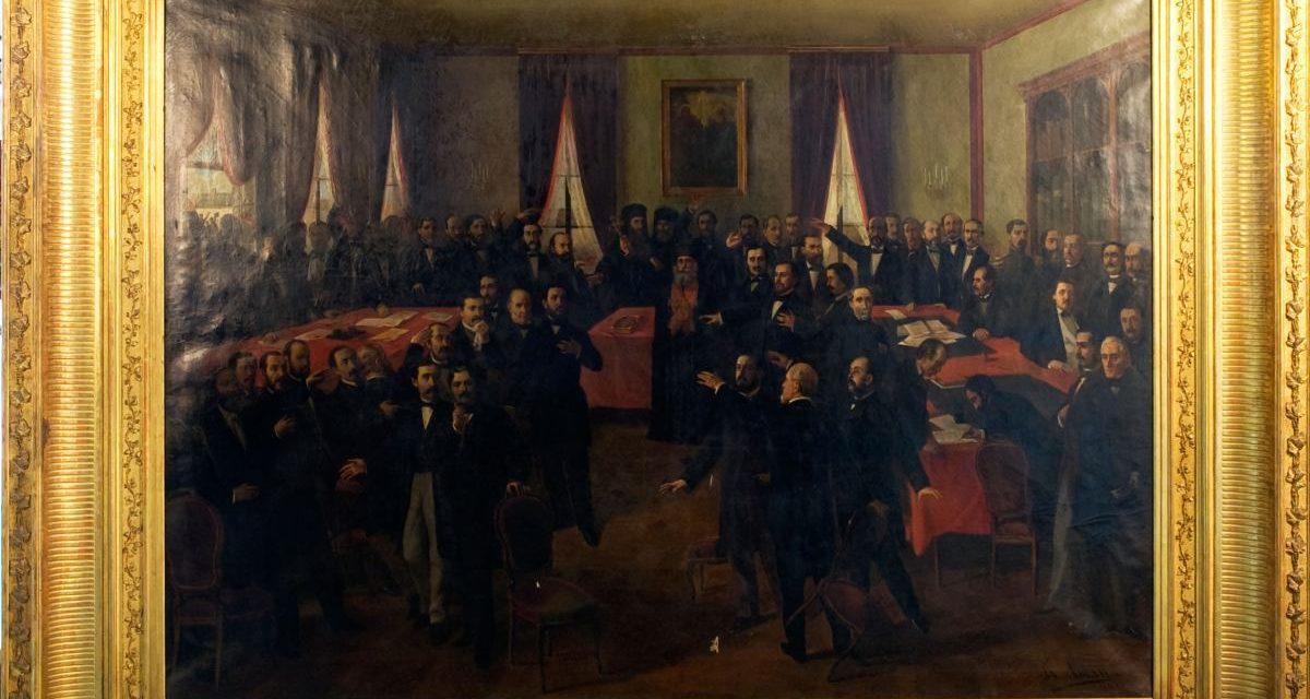 """Theodor Aman """"Proclamarea Unirii"""" – 160 de ani, 24 ianuarie 1859-2019, la MNIR"""