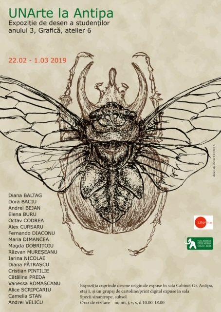 """Expoziția """"UNArte la Antipa'' @ Muzeul Național de Istorie Naturală """"Grigore Antipa"""""""