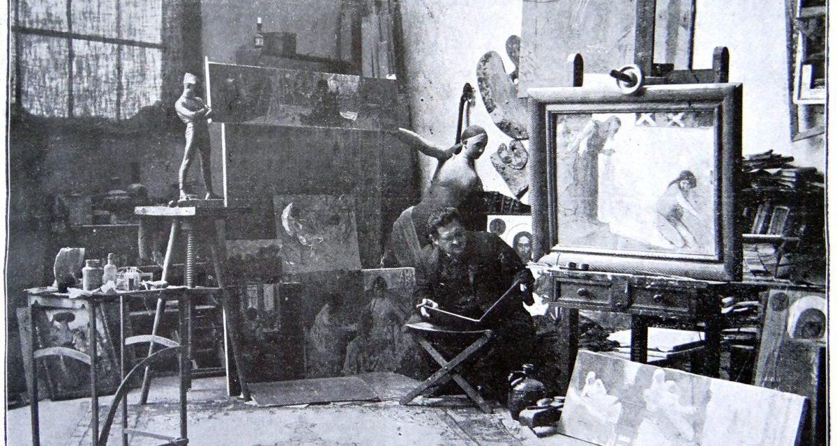 Maestrul Vermont în atelierul de lucru, 1914