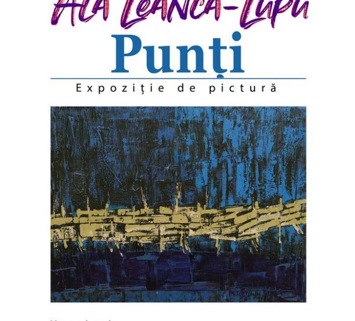 """Expoziția de pictură a artistului plastic Ala Leancă-Lupu """"Punți"""", la Galeria Filarmonicii Naționale din Chișinău"""
