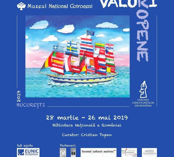 """Salonul Internațional de Caricatură """"Valori Europene"""" deschis la Biblioteca Națională a României"""