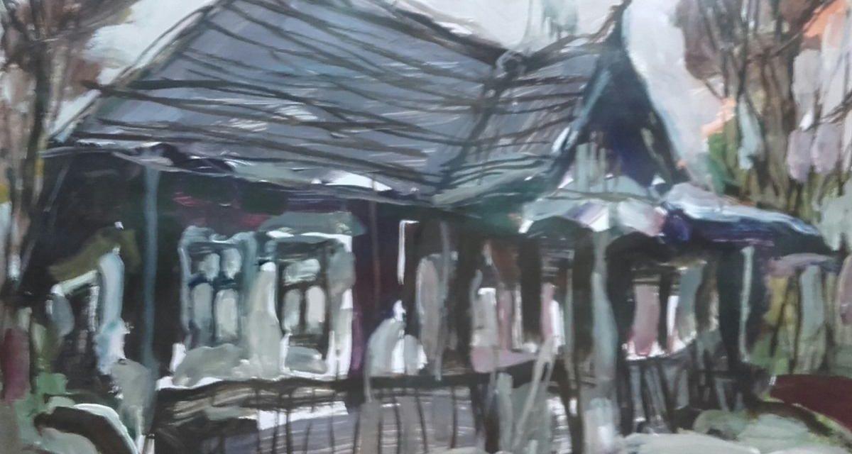 Expoziţia de pictură «Edificii de arhitectură tradiţională românească» a artistului Augustin Lucici @ Galeria Institutului Român de Cultură şi Cercetare Umanistică de la Veneţia