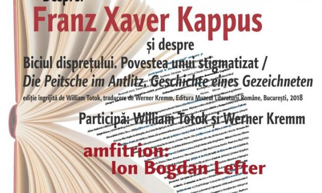 Despre Franz Xaver Kappus la Schillerhaus, la Cafeneaua critică
