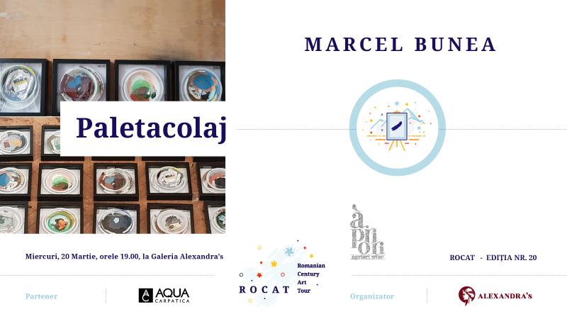 """Expoziție Marcel Bunea """"Paletacolaj"""" @ Galeria Alexandra's, București"""