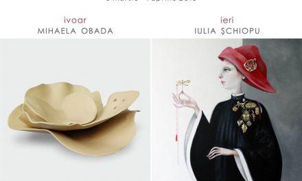 """Iulia Șchiopu """"IERI"""" expoziție de pictură, Mihaela Obada """"IVOAR"""" expoziție de ceramică @ Art Yourself Gallery, București"""
