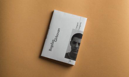 "Lansare volum Bogdan Gîrbovan. ""Categorii"""