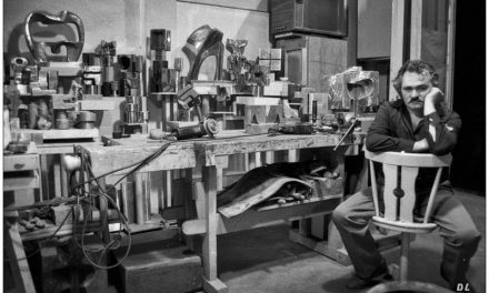 Peter Jecza în atelierul său, anii 80