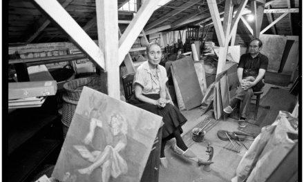Rodica și Iacob Lazăr în atelier, anii 80