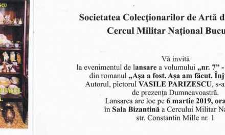"""Vasile Parizescu, lansarea volumului """"nr. 7"""" Homosexualii"""" din romanul """"Aşa a fost. Așa am făcut. Înjurați-mă!"""""""