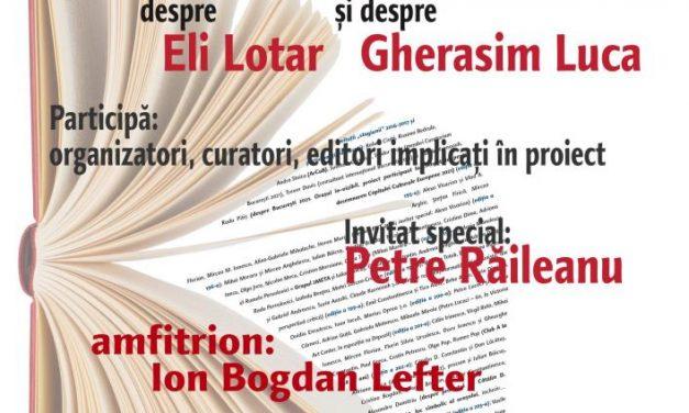 Despre Sezonul România-Franţa, despre Eli Lotar şi despre Gherasim Luca la Cafeneaua critică!