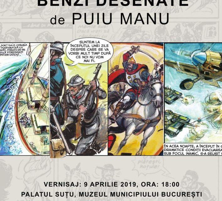 """Expoziție """"Bandă desenată de Puiu Manu"""" @ Muzeul Municipiului București"""