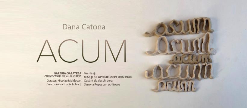 """Expoziție Dana Catona, """"Acum"""" @ Galeria Galateea Contemporary Art, București"""