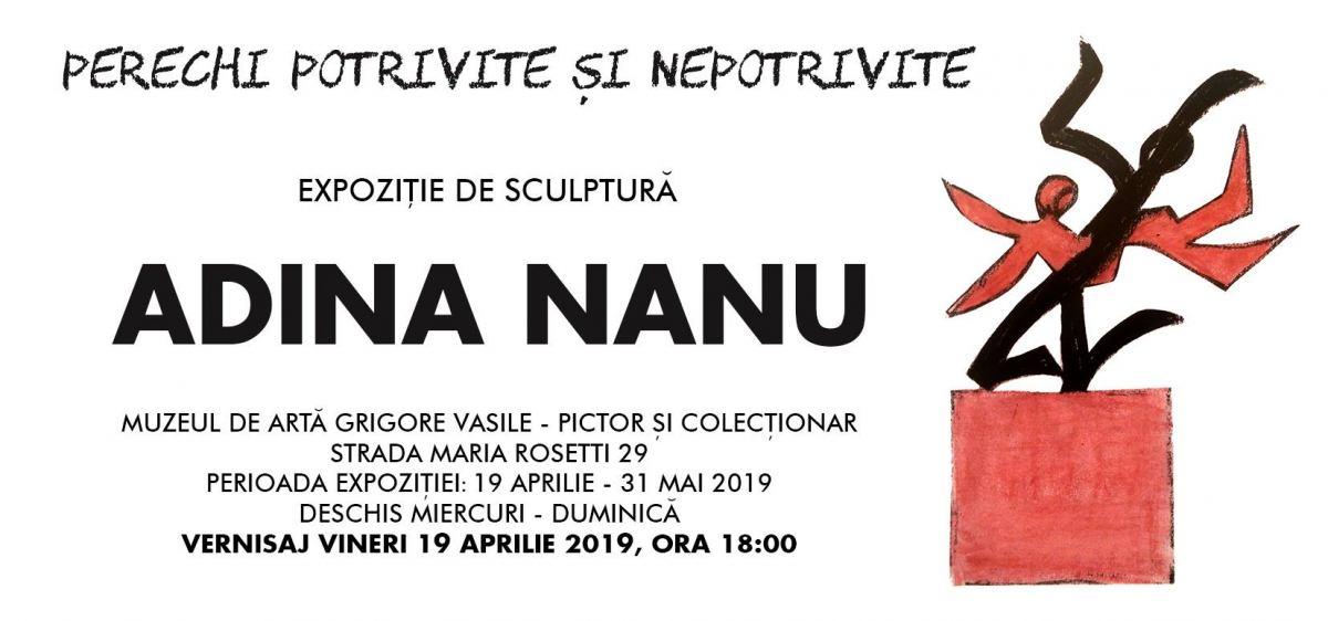 """Expoziție de sculptură Adina Nanu """"Perechi potrivite și nepotrivite"""" @ Muzeul Vasile Grigore, București"""