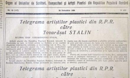 Telegrama artiștilor din R.P.R către Tovarășul Stalin