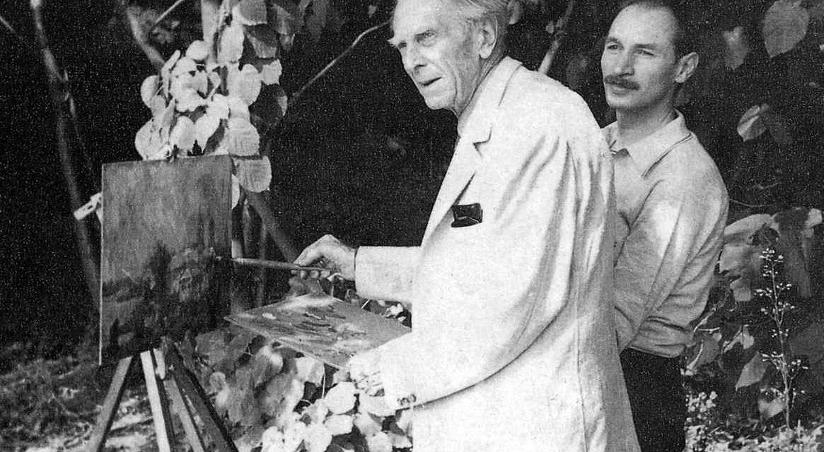 Rudolf Schweitzer-Cumpăna alături de Vasile Parizescu la Căldărușani, în 1972