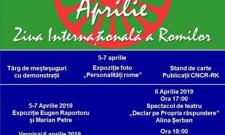 NE PLACE SĂ NE SĂRBĂTORIM CU ARTĂ 8 aprilie, Ziua Internațională a Romilor