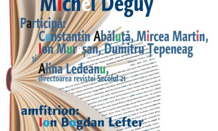 Michel Deguy/ Secolul 21 la FIPB, la Cafeneaua critică!