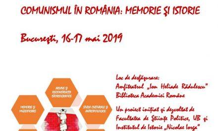 CoMIst 2019: COMUNISMUL ÎN ROMÂNIA: MEMORIE ŞI ISTORIE