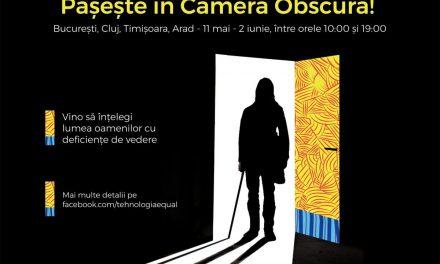 Laurențiu Dimișcă decorează Camera Obscură pentru persoanele cu deficiențe de vedere