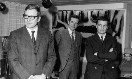 Peter Jacobi și Paul Neagu în Hamburg 'Bauzentrum', 1968